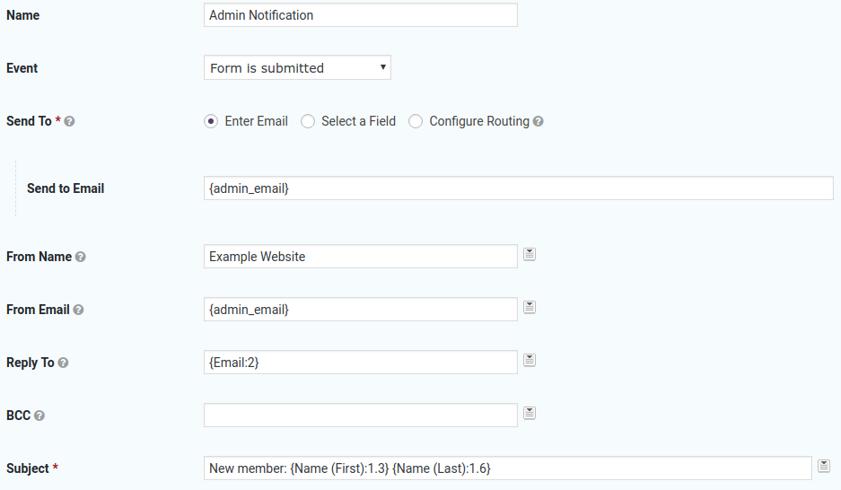 Improve the admin notification email with some simple changes